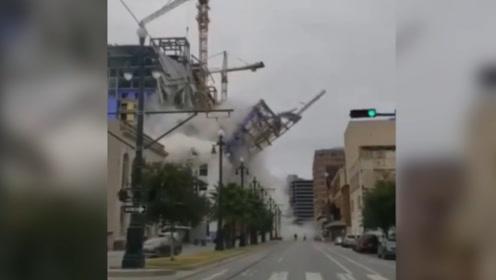 新奥尔良在建酒店突然倒塌,致1人死亡2人失踪