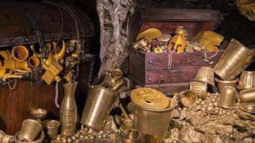 """男子发现德国元帅""""藏宝洞"""",洞内堆满25吨黄金,戒指装满20箱"""