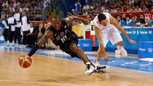 得分心切!科比奥运会疯狂走步,裁判都看不下去了!