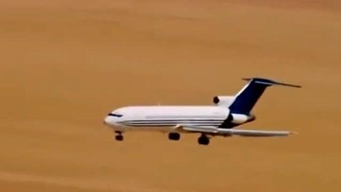 波音727客机沙漠硬着陆测试,瞬间断成几节!