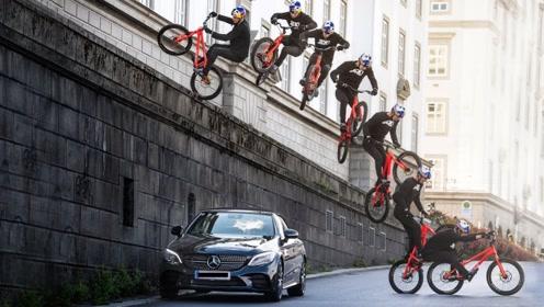 自行车跑酷你见过吗?老外穿梭在街头,就像在刀尖上的舞者!