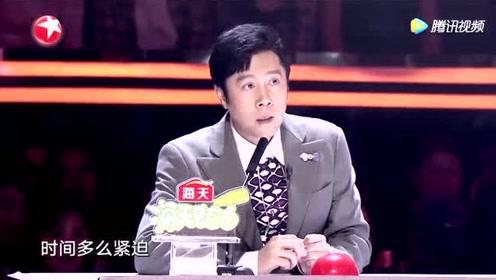 蔡国庆说选手是一个了不起的妈妈,问选手是怎么做到一晚上改的动作