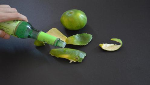 花露水滴在橘子皮上,原来用途这么厉害,家家户户能用到