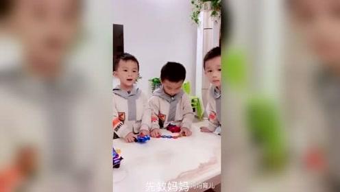 妈妈问三胞胎自己掉河里了怎么办,三个儿子三种回答,暖哭了!