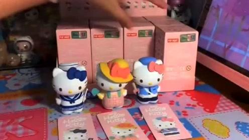 Hello kitty职业系列端盒开箱,超多惊喜!