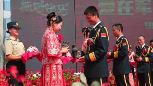 火箭军办集体婚礼 指挥官下令:只能抢自己的新娘,速度一定要快!
