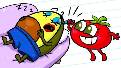 帮忙照顾苹果宝宝,小明被整蛊的崩溃了,真是一个顽皮的孩子!
