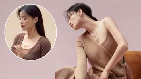 38岁全智贤终于营业,新画报秀出迷人天鹅颈,穿简约针织过分优雅