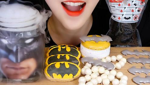 萌妹享用奇特美食,吃超大珍珠太奢侈,冒烟雾的罐子是毒药吗?