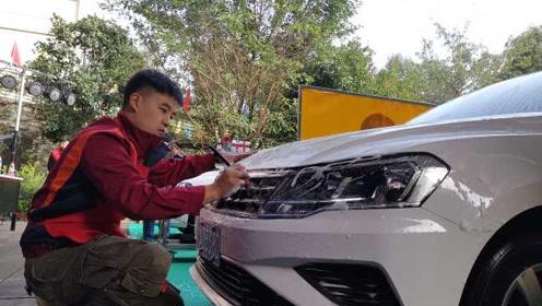 汽车美容师在线PK!50多个评分点,清洗面精确到厘米