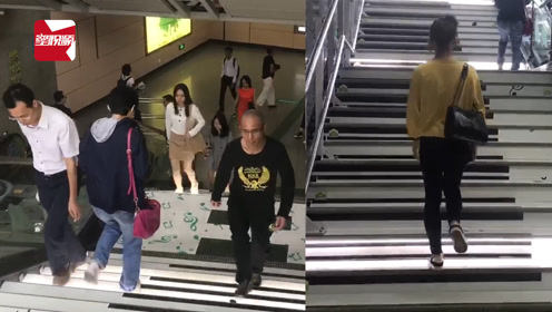 边走楼梯边弹钢琴,广州塔地铁口成新晋网红打卡地!