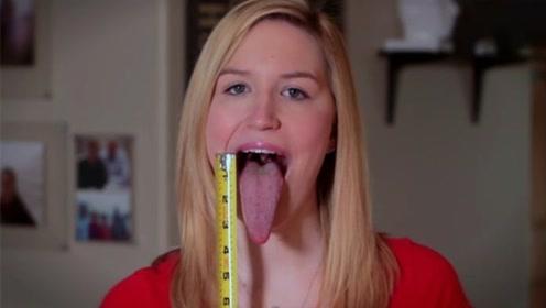 舌头最长的人,长度竟达13厘米,能轻易舔到鼻尖!