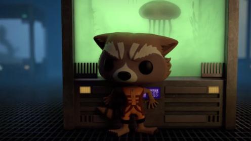 浣熊想要营救格鲁特,没想到被收藏家发现,看浣熊如何戏耍收藏家