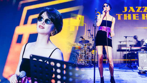 李亚鹏女友神似王菲,音乐节上身穿吊带短裙开唱,大长腿超抢镜