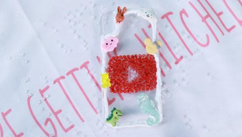 【DIY手机壳】用珍珠米制作yuotobeLOGO手机壳,太有创意了