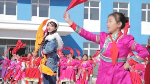 人美心善!林志玲来到乡村与孩子们学习玩耍亲切无距离