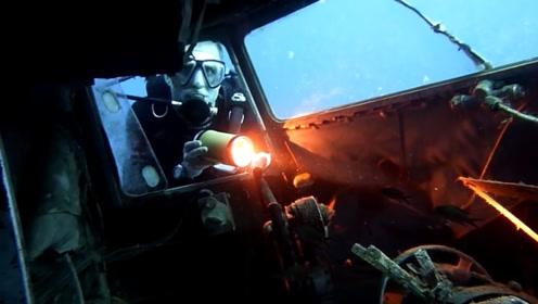 """深海发现一架他国战机,潜水员看到可怕的""""人脸"""",赶紧上岸报警"""
