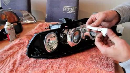 宝马BMW e39大灯调节装置修复过程 2001-2003