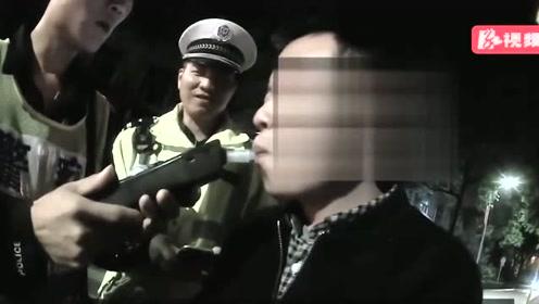 视频 湘潭一男子深夜醉驾 斑马线上撞伤行人