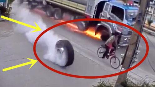 货车司机死死抱住方向盘,要不是监控,都不知道男子经历了什么!