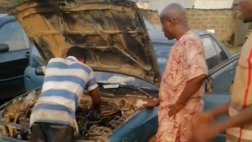 非洲老板新买的车 出现点小毛病 还有维修价值吗