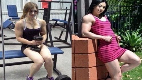 俄罗斯最强壮肌肉女,参加罗马尼亚肌肉节夺冠,网友:太强了