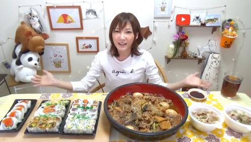 【木下大胃王】麻辣烫!!!涮猪肉盖饭还有5种寿司卷
