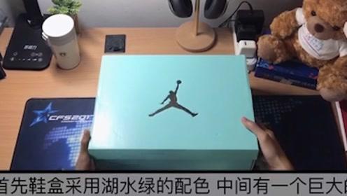 球鞋开箱:实物美爆!AJ5 湖水绿开箱!它真的叫雪豹郭艾伦吗?