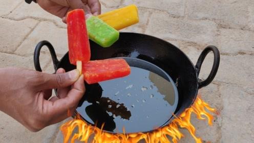 小哥作死尝试制作油炸冰淇淋,结果场面失控,网友:不忍直视!