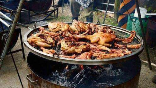 美国人吃肉,对比中国人吃肉,简直太落后原始了!
