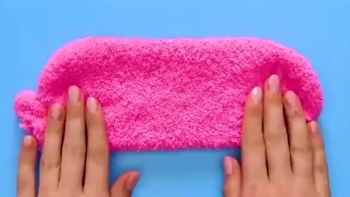 教你把袜子改成收纳袋,放口红超合适,女生快做起来!