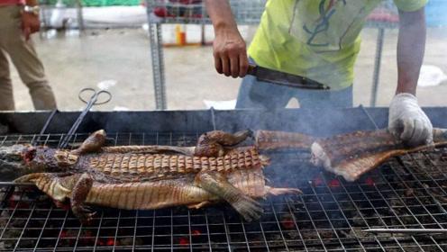 """泰国神奇的""""鳄鱼吃法"""",观众集体流口水,太好吃了"""