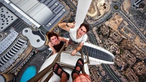 国外最厉害的极限挑战者,从迪拜4000米高楼跳下,镜头记录全过程