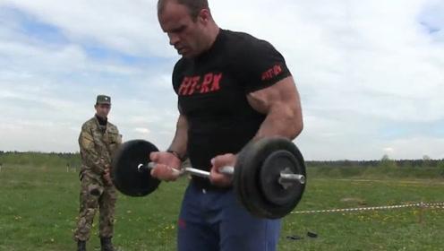 腕力大神丹尼斯,挑战军队训练项目,由于体能消耗快射击都手抖