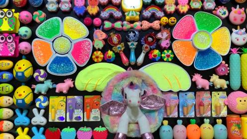 彩虹米粒泥+水果果冻泥+亮彩饰品,DIY无硼砂史莱姆,好玩又解压