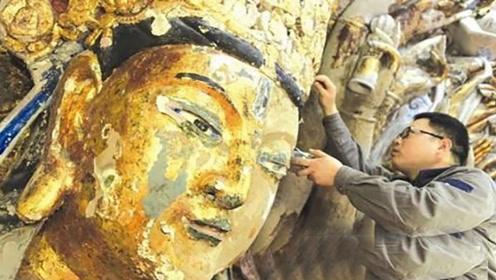 重庆修复800年千手观音,无意间触发机关,发现意外惊喜!