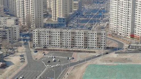哈尔滨最牛气的钉子户,把十车道,生生变成了单行道