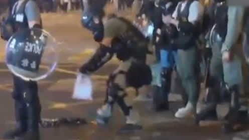 """猖狂! 因报道不符合暴徒""""标准"""" TVB记者接连两日遭黑衣人围殴"""