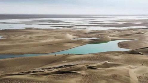 神奇景观!敦煌沙漠重现5平方公里湖泊,此前已干涸消失近300年…