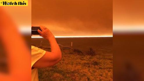 这是火星吗?澳洲森林大火将天空染成橙红色