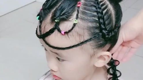 慢动作小公主发型教程,超级漂亮,宝妈必看