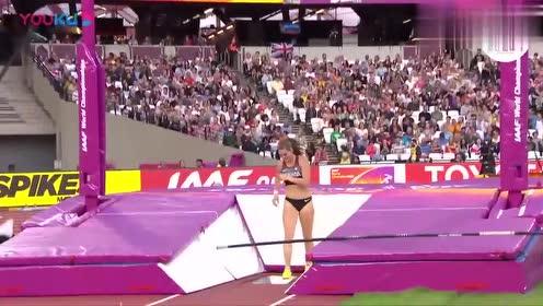 国外最美女运动员这一幕撑杆跳,直接惊艳了裁判,观众:美极了