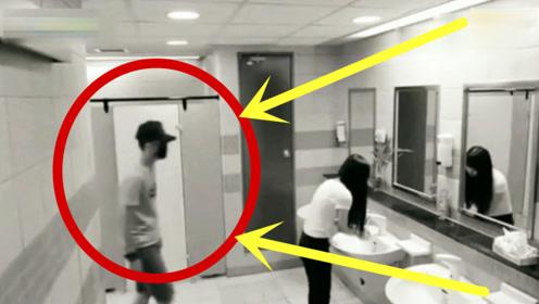 妹子公厕遇渣男,假如不是监控,根本难以置信女汉子会这么威猛!