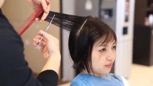 掌握这四个步骤,剪流行的减龄短发,简单清晰