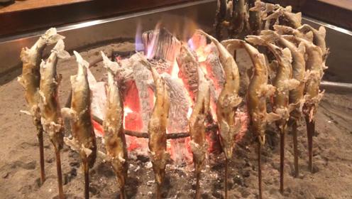 日本最奇葩的烤鱼方式,难怪卖这么贵!