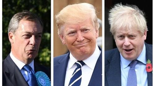 """英国工党领袖:特朗普-约翰逊-法拉奇""""三人组""""会威胁英国"""