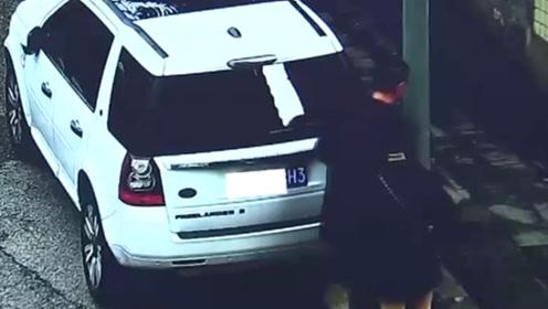 男子将车停家中却收到违章处罚信息 监控发现有人套用他的车牌