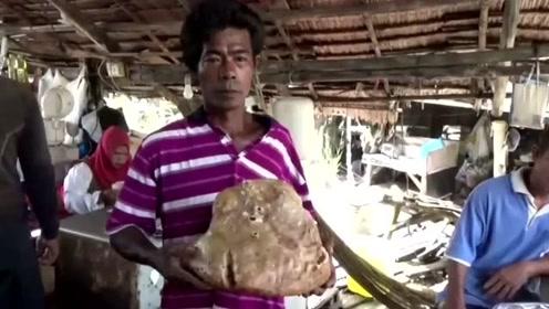 泰国45岁拾荒者捡到黄色蜡状异物 竟是价值72万龙涎香