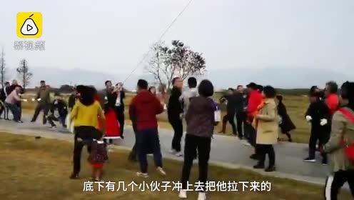 杭州放飞260米巨龙风筝,多人被拽飞离地,挣断指母粗尼龙绳