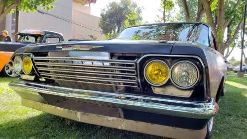美式肌肉车完美的60年代黑斑羚62 Chevy Impala